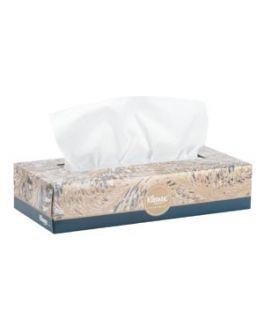 Kleenex® Anti-Viral Facial Tissue, 8 1/5 x 8 2/5, White, 3-Ply, 3-Pack Cube, 4/cs