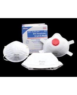 N95 Particulate Respirator Masks, Flat, Folded, 20/bx, 12 bx/cs
