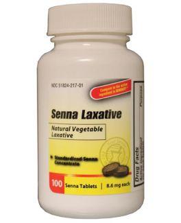 Laxative Senna 86mg Tab 100s 12bx 2 bxcs Continental US Only