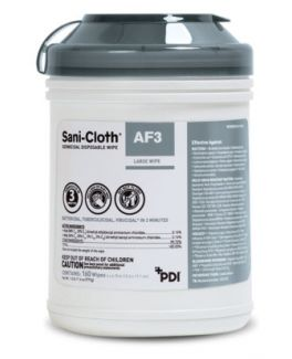 """AF3 Germicidal Disposable Wipe, Large, 6"""" x 6¾"""", 160/canister, 12 can/cs (30 cs/plt) (091237) (US Only)"""