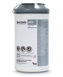 """AF3 Germicidal Disposable Wipe, X-Large, 7½"""" x 15"""", 65/canister, 6 can/cs (40 cs/plt) (091238) (US Only)"""