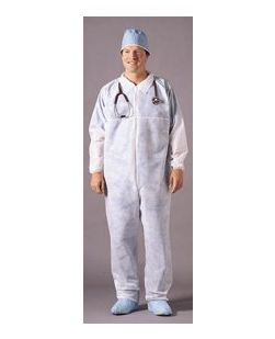 Fluid-Resistant Coverall McKesson X-Large White Disposable