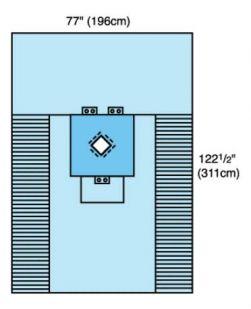 Surgical Drape Thyroid Drape 77 W X 122-1/2 L Inch Sterile