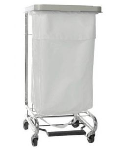 Hamper Stand McKesson Soiled Linen Rectangular Opening 30-33 gal Foot Pedal Self-Closing Lid