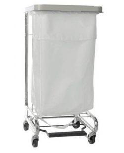 Hamper Stand McKesson Soiled Linen Rectangular Opening 30-33 gal Foot Pedal Self-Closing Lid