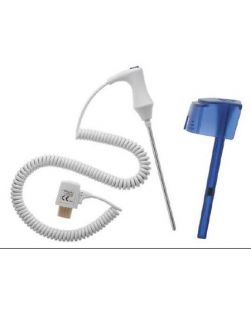 Probe and Well Kit SureTemp® Oral Blue Well, 4 Foot Oral Reusable Probe, NonSterile SureTemp® 690 / 692 Thermometers