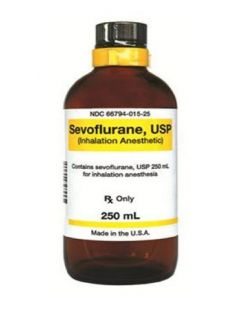 Sevoflurane 100% Inhalation Liquid Bottle 250 mL