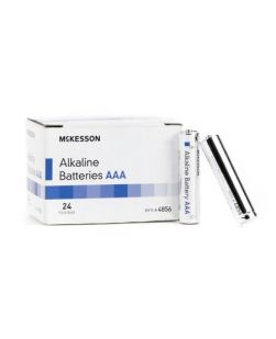 Alkaline Battery McKesson AAA Cell 1.5V Disposable 24 Pack (24/BX 25BX/CS)