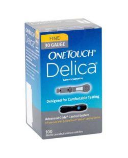 Lancet OneTouch Delica Adjustable Depth Lancet Needle 30 Gauge Twist Top LANCET, GUAGE ONE TOUCH DELICA(100/BX 24BX/CS)