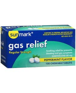 Gas Relief Tabs, Extra Strength, 18s Cherry, 12/cs (Continental US Only)
