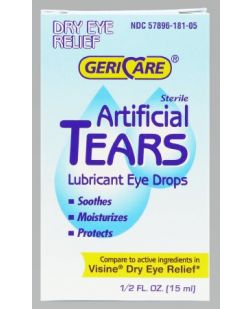 Eye Drops, Artificial Tears, 15mL, 6/bx, 12 bx/cs (Continental US Only)