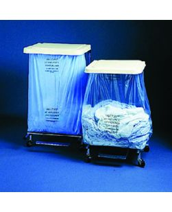 Hamper Bag, 40 Gal Capacity, 39½ x 39½ x 39.7, 1-Ply, 3 mil, Blue Plain, 100/cs