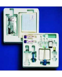 Bone Marrow Biopsy Tray, Sterile, Includes: 11G x 4 J-Style Needle, 1 Luer Lock Adapter, 2 Specimen Tubes, 10 Microscope Slides, 1 Amber Specimen Vial, 1 Stirring Rod, 5 Gauze Pads & 1 ID Label, 10/cs