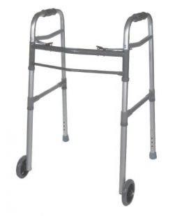 Dual Release Walker, I-Class Adult, 5 Fixed Wheels, 4/cs