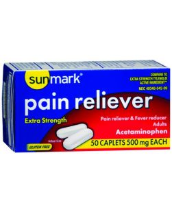 Extra Strength Pain Reliever, 2/pk, 125 pk/bx