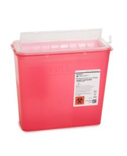 Chimney-Top Sharps Container, 4 Qt, Red, Small, 40/cs (18 cs/plt) (Continental US Only)