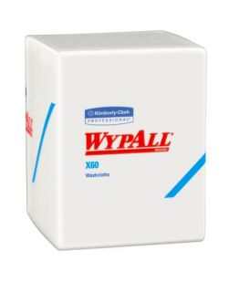 WYPALL X60 Wipers, White, 9.8 x 13.4, 130 sheets/rl, 12 rl/cs