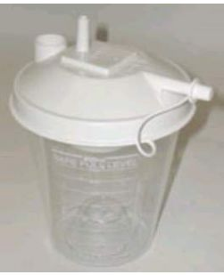 Collection Canister, Disposable, 1500mL, DISS Inlet, 48/cs