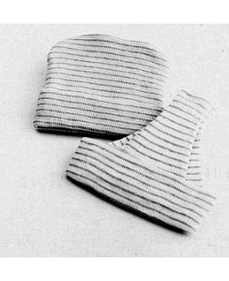 Boy Infant Cap, White/ Blue Stripe, 50/bx, 4 bx/cs