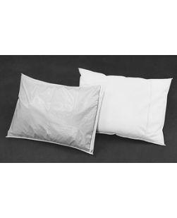 Plastistaff Pillow Cover, 4 mil, White, Zipper Style, 12/cs