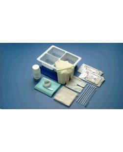 Tracheostomy Care Set, Hydrogen Peroxide, 1 Pair Gloves, 1 Polylined Drape, Sterile, 20/cs