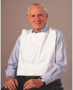 Bib, 16 x 24, Adult, Pocket, White, Poly, 500/cs
