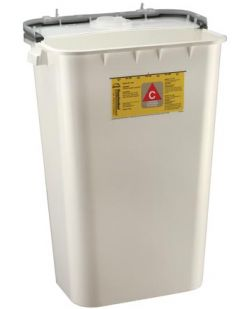 Chemo Container, 11 Gal, White, 6/cs