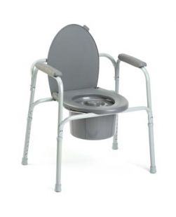 Gray Coated Commode, 4/cs