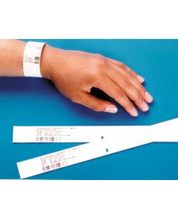 Adult ID Band, 4 x  1 1/8, 1½ Core, Specify Color: (11) White, (13) Blue, (14) Yellow, (15) Green, (16) Red or (17) Orange, 500/bx