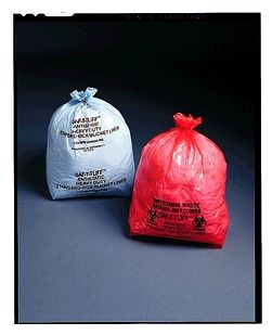 Bucket  Liner, 12 x 24 x 8, Low Density, Anti-Static, Blue/ Black, 1.25 mil, 4-7 Gal, 500 rl/cs