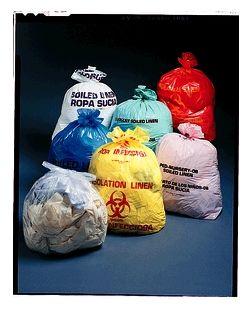 Infectious Linen Linen Bag, 23 x 8 x 41, 1.2 mil, Red, 250/cs