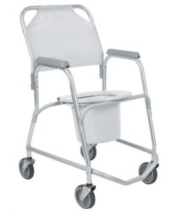 Mobile Shower Chair/ Commode, 2/cs