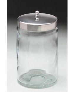 Flint Glass Jars, Unlabeled, Stainless Steel Lids, 6/cs