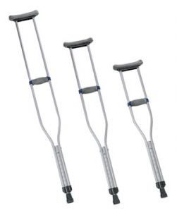 Adult Crutches, Adjustable, 8 pr/cs (050106)