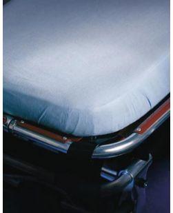 Stretcher Sheet, 25 x 72, Non-Woven, 6 Sewn Pocket, Blue, Latex Free (LF), 50/cs