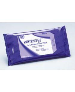 KIMTECH PURE W4, CL4 PreSat Alcohol Wipe, White, 9 x 11, 40/pk, 10 pk/cs