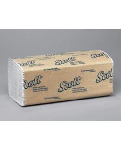 Scott S-Fold Towels, 1-Ply, 250 sheets/pk, 16 pk/cs (54 cs/plt)