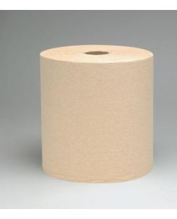Scott Hard Roll Towels, 1-Ply, Natural, 800 ft/rl, 12 rl/cs