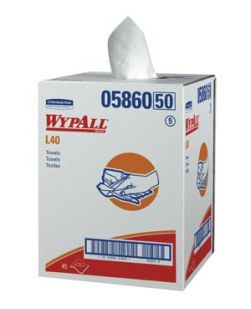 WYPALL Professional Towels, White, Bath Size, 19½ x 42, Disposable, Pop-Up Box, 200/bx (18 bx/plt)