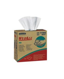 WYPALL Hydroknit? Wipers, 9.1 x 16.8, 4-Ply, White, 126/bx, 10 bx/cs (24 cs/plt)