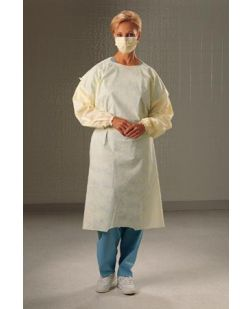 Cover Gown, Yellow, Universal Size, 100/cs