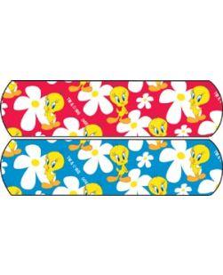 Looney Tunes? Tweety? Flowers Assorted Red/Blue, ¾ x 3, Stat Strip®, 100/bx, 12 bx/cs