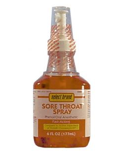 Throat Spray, Cherry, Compare to Chloraseptic®, 6 oz, 12/cs (UPC 01512700156) (Continental US Only)