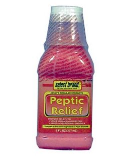 Antacid Peptic Relief Regular Strength 8 oz, Compare to the Active Ingredient of Pepto Bismol®, 12/cs (UPC01512700157) (Continental US Only)