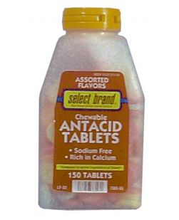 Antacid Chewable Tablet Assorted Flavors, Compare to the Active Ingredient of Rolaids® 150s, 24/cs (UPC01512700565) (Continental US Only)