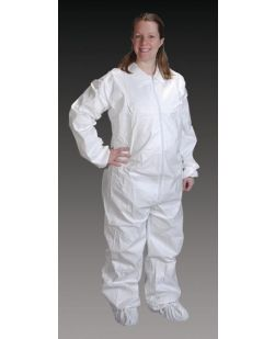 Coveralls, 2X-Large, Elastic Wrist, Ankle & Back, 25/cs