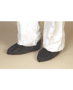 Shoe Cover, Black, X-Large, Impervious, Heat Sealed, 75 pr/cs