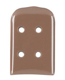 Solid Vented Instrument Guard, Size 8, 5/64 x 5/8 x 1, Brown, Non-Sterile, 50/pkg