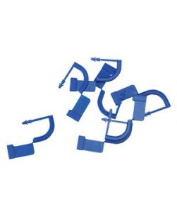 Tamper Evident Locks, Plastic, Blue, 1000/bx