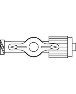 Antimicrobial High-Flow, Four-Way Stopcock, Luer-Activated ULTRAPORT Port, Female Luer Lock Port & SPIN-LOCK Connector, Lipid-Resistant, Latex Free (LF), 0.17mL Priming Volume, Lavender Handle, 100/cs